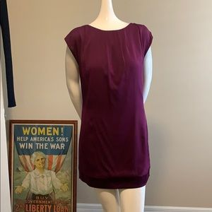 Alice +Olivia Burgundy Silk Mini Dress size M